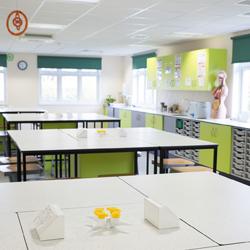 College laboratory with bespoke furniture