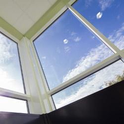 Upcycled modular build glazing