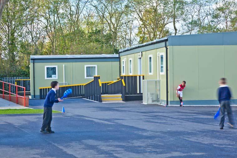 Modular classrooms and playground