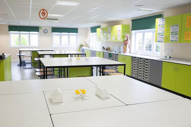 Science laboratory in modular university building