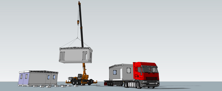 Modular construction transport and installation