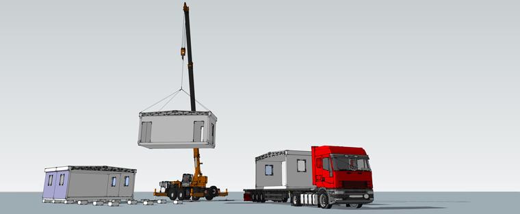 Modular construction transport and installation