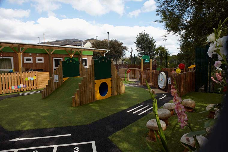 Pre-school portable buildings and play area