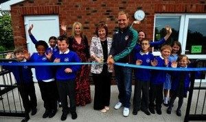 Portable Building Opened by Rugby Star