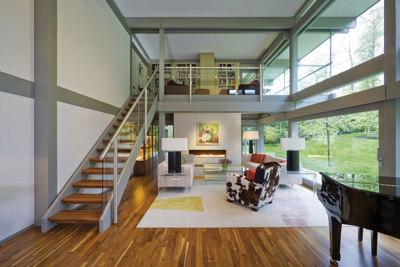 Interior design of prefabricated Huf Haus