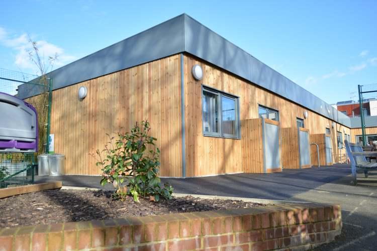 Modular School Building In Timber Cladding