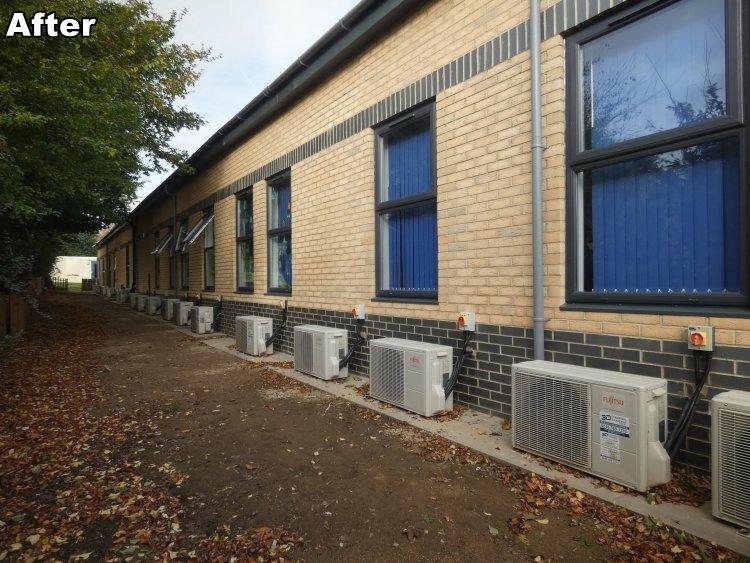 new modular classroom exterior