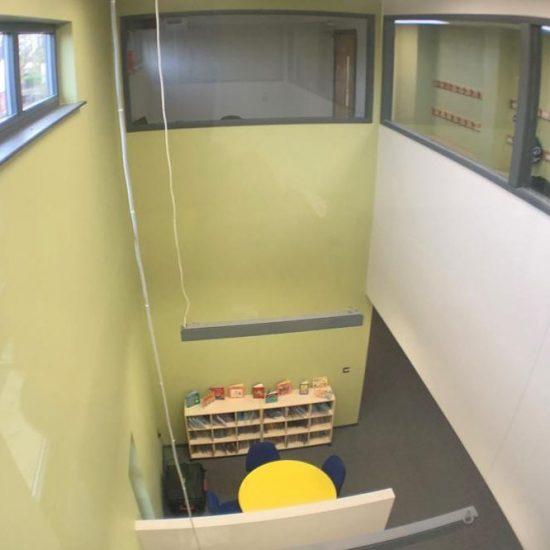 Two storey modular classroom block interior