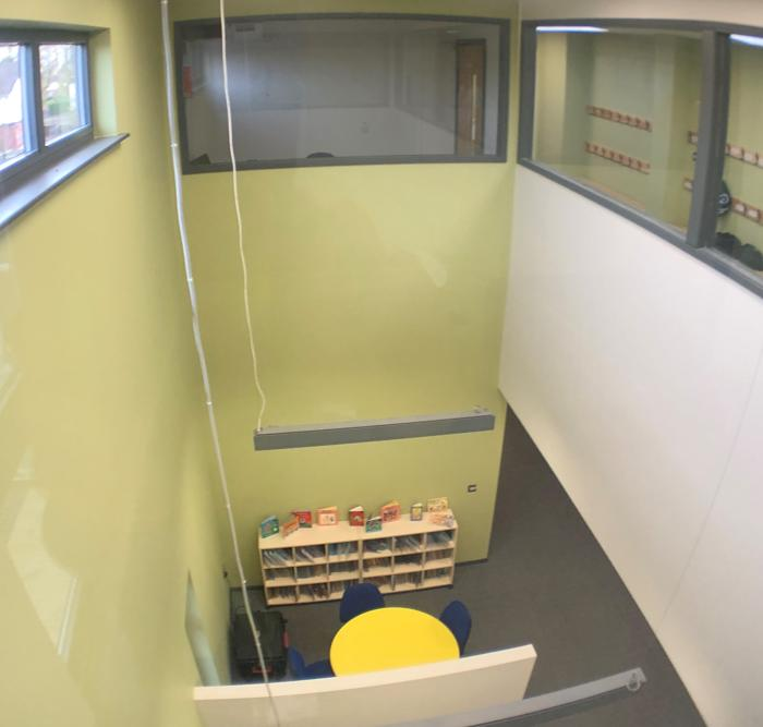 modular classroom block interior