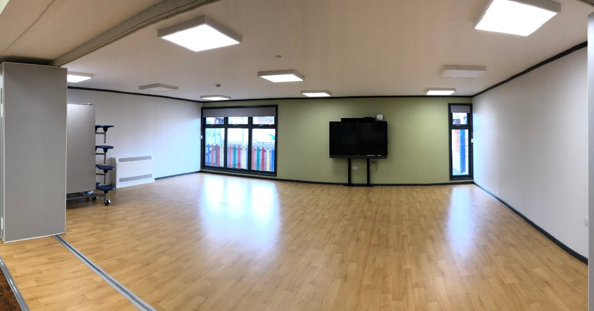 modular school hall extension