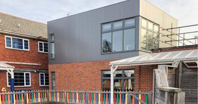 modular school extension