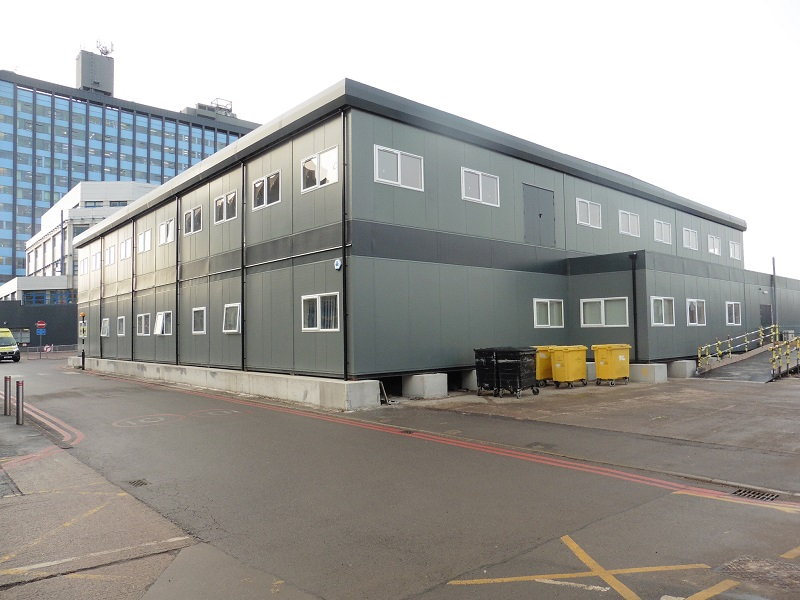 modular hospital building exterior