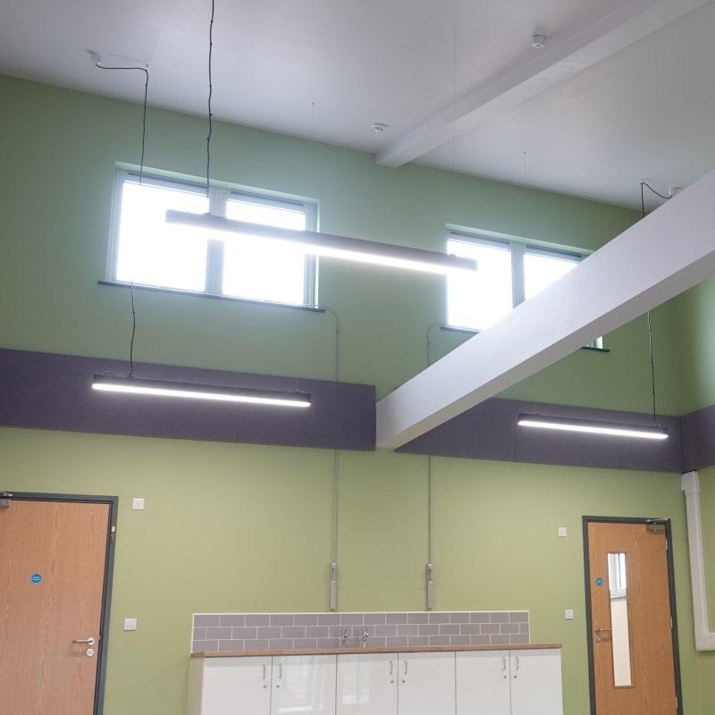 The Garth School Modular Building High WIndows
