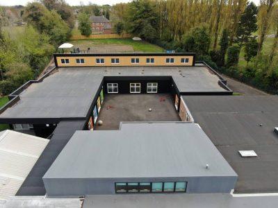 The Garth School Modular Classroom Extension Elevation View