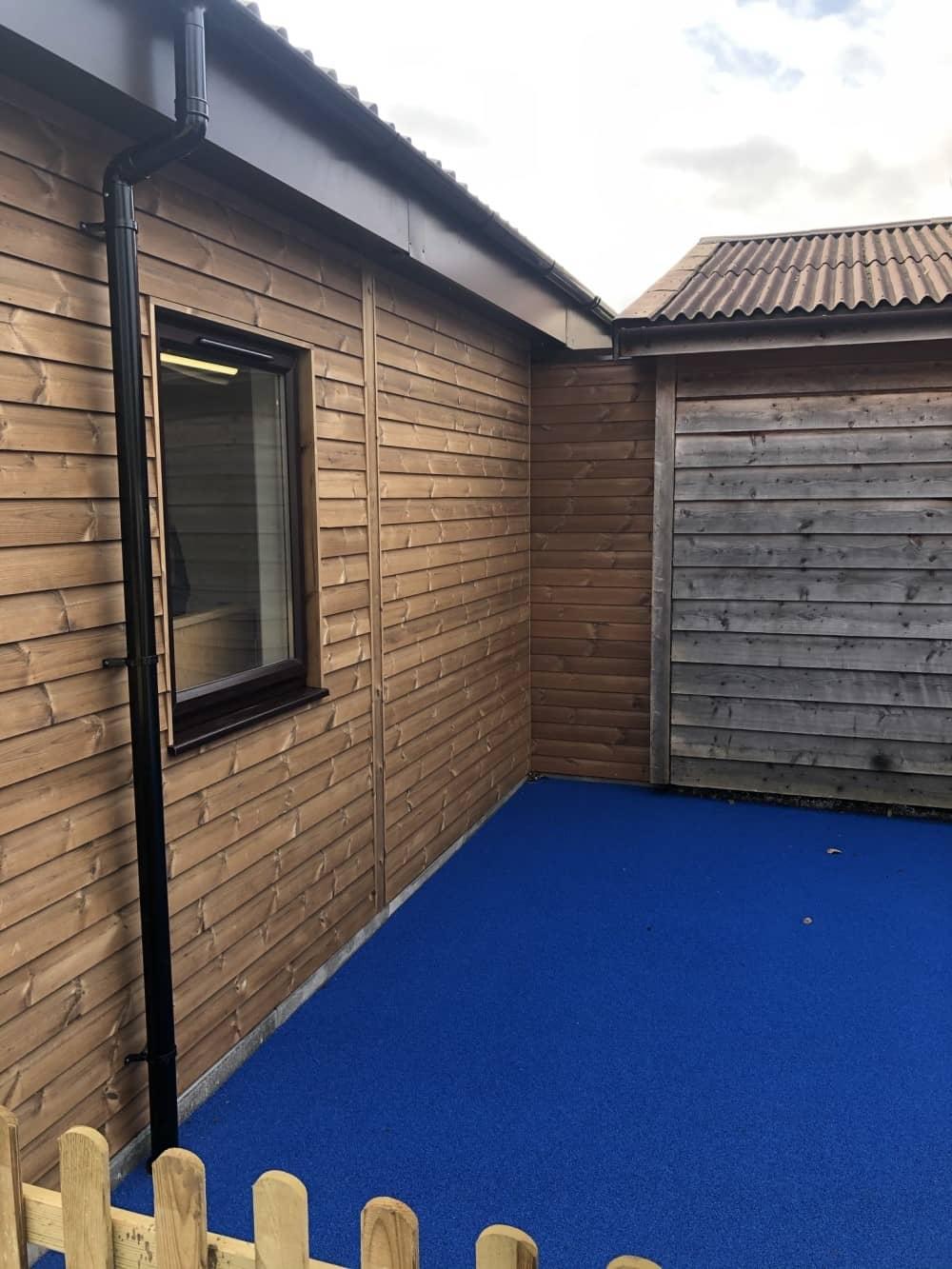 Langford Village Modular Nursery Extension Bedfordshire Soft Play Courtyard