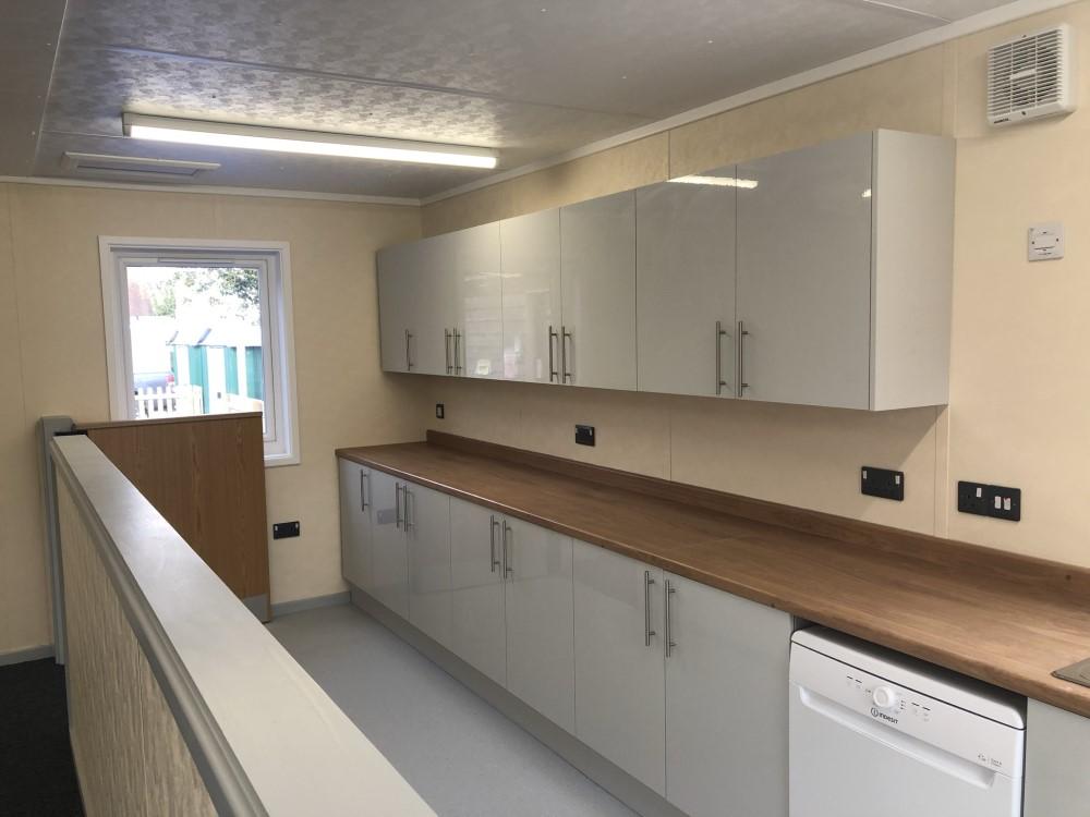 Utility Kitchen At Langford Village Academy Modular Nursery Building