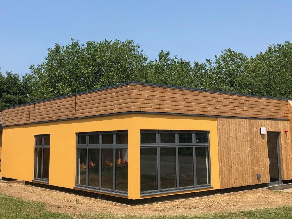 Timber Clad Prefab Modular Classroom Building St John's Church School By MPH